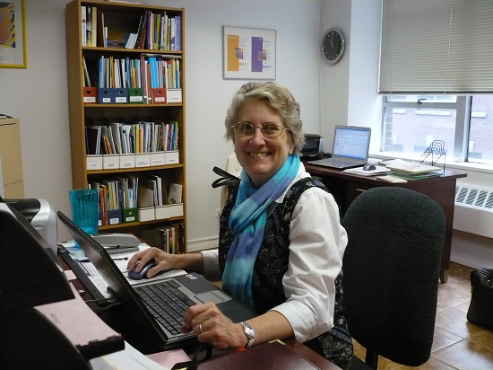 Mary Jo Toll at UN desk April 2013