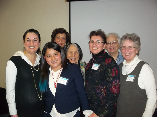 Mary Jo Toll far right with presenters at an NGO event during the Commission on the Status of Women March 2013