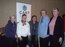 From left to right -- Sister Mary Judeen Julier, Sister Betty Mae Bienlein, Sister Julie Marie Arriaga, Sister Mary Anncarla Costello, Sister Shirley Marie McGovern