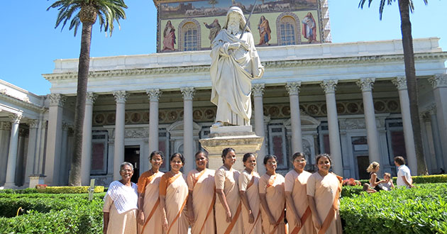 Indian Sisters of Notre Dame on Pilgrimage Share Roman Experience