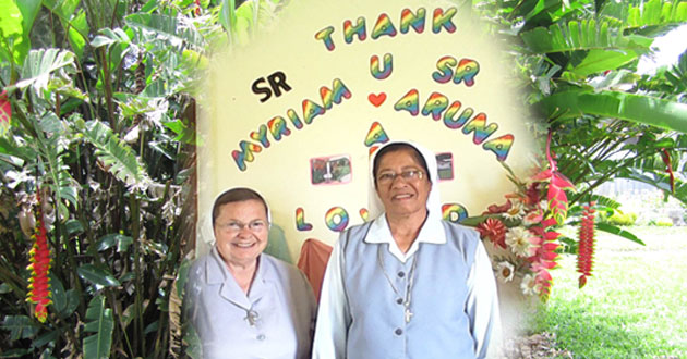 Farwell of Sister Myriam Powell of Toledo, the very last American missionary in PNG and  Sister Mary Aruna Thomas from Patna India