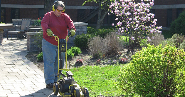 When Sr. Mary Ruth isn't assisting clients, she spends many hours a week helping to maintain the grounds at the Toledo Provincial Center.