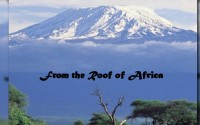 From the Roof of Africa : April, 2016,  Newsletter Vol. 8