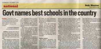 NDA second best school in Uganda