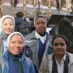 SND Student Sisters at the Angelicum in Rome participate in pilgrimage