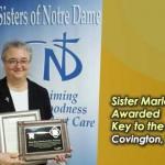 <!--:en-->Sister Marla Awarded Key to the City<!--:--><!--:de-->Schwester Marla erhielt den Schlüssel der Stadt<!--:--><!--:pt-->Irmã Marla honrada com a Chave da Cidade<!--:--><!--:ko-->파크 힐스 시 말라 수녀님에게 도시 열쇠 수여<!--:-->