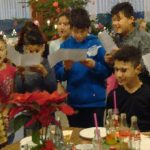 Christmas coffee with refugees in Kloster Marienhain,Vechta, Germany